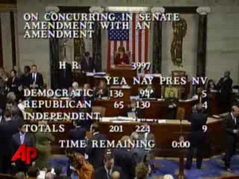 Raw Video: House Defeats Financial Bailout