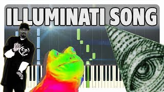 ILLUMINATI SONG Piano Tutorial (Sheet Music + midi)