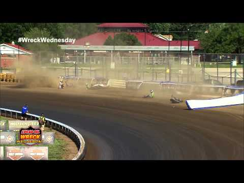 4 Riders Crashes into the air fence at the 2012 Springfield Mile - WW #15