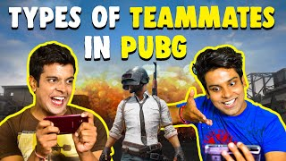 Types of TEAMMATES in PUBG   The Half-Ticket Shows