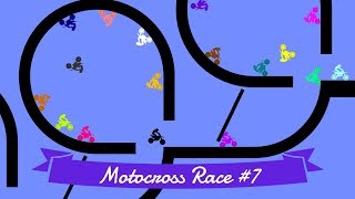 Motocross Race #7: Elimination - 32 colors | Bouncy Marble