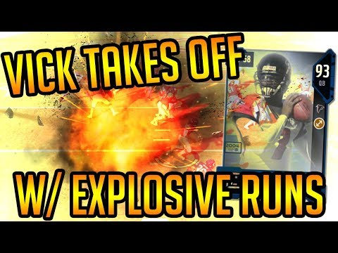 Madden 18 Ultimate Team-94 Overall Mike Vick Takes Off With EXPLOSIVE RUNS!-Madden 18 Ultimate Team