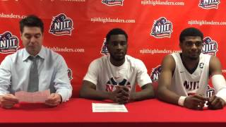 NJIT MBB Post Game Interview vs. Yale