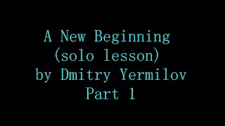 Dream Theater-A new beginning solo lesson (Part_1)