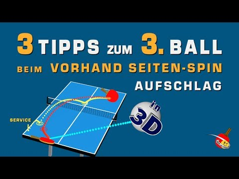 Spiele den 3. Ball sicher – Tischtennis. How To Play Third Ball with confidence - Table Tennis.