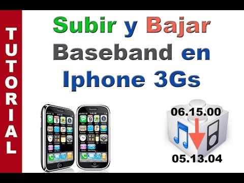 Subir y bajar baseband iPhone 3Gs para Liberarlo