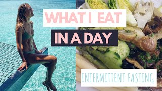 WHAT I EAT IN A DAY TO BE FIT & TONED // INTERMITTENT FASTING // VEGAN