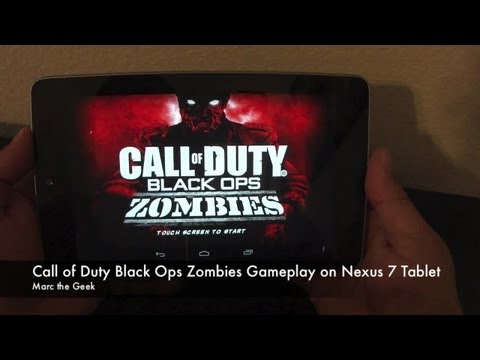 Call Of Duty: Black Ops Zombie Gameplay on Nexus 7 Tablet