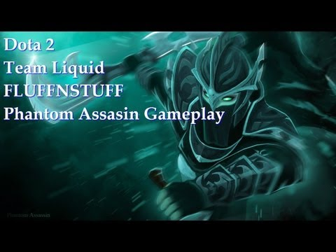 Dota 2. Team Liquid FLUFFNSTUFF. Phantom Assasin Gameplay