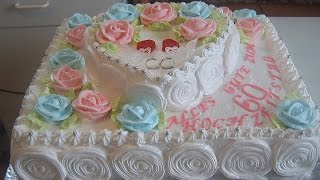 Торт Бриллиантовая свадьба