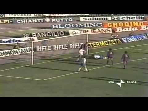 Serie A 1986-1987, day 14 Fiorentina - Napoli 3-1 (R.Diaz, Antognoni, Maradona, P.Monelli)