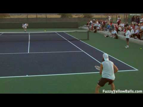 David Ferrer hitting in High Definition Video