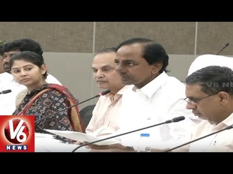 CM KCR Warns Contractors Against Laxity In Mission Bhagiratha Works | V6 News