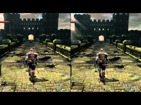 Dark Souls - PS3 vs XBOX 360 Graphics Comparison ((SPLIT SCREEN))