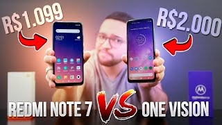 Motorola One Vision vs. Xiaomi Redmi Note 7 - comparativo!!!