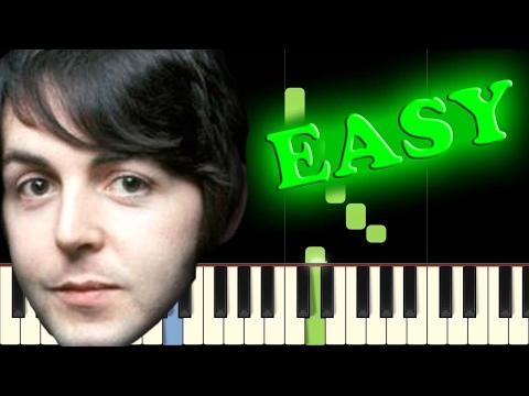 THE BEATLES - HEY JUDE - Easy Piano Tutorial