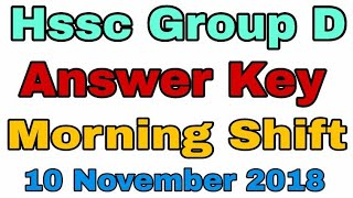 Answer Key Morning Shift Hssc Group D Paper