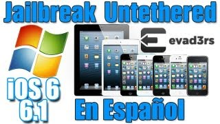 Jailbreak Untethered iOS 6, 6.1, 6.1.2 Tutorial En Windows En Español