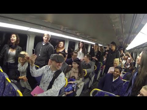 PVS Flash Mob on Sydney Train