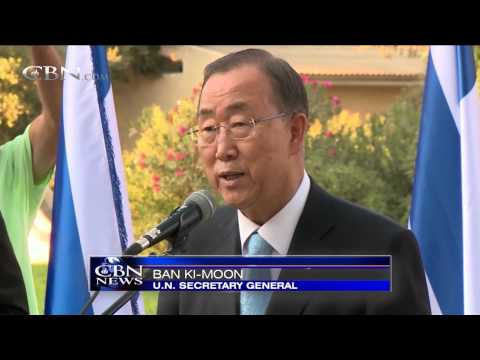 UN's Ban Ki-Moon 'Shocked' by Hamas Terror Tunnels