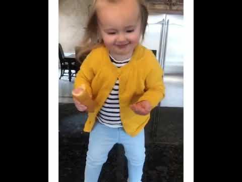 Toddler Girl with Corn Dog Dances to Beyoncé thumbnail