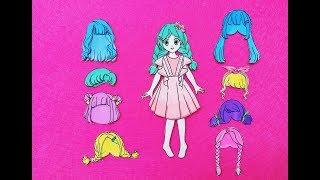 Búp bê giấy - Hướng dẫn vẽ tóc cho búp bê - Paper doll hair - 종이 인형 / 紙人形 / 纸娃