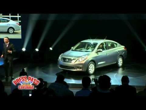 2012 Nissan Versa Press Conference at NY Auto Show