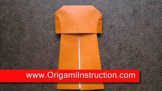 How To Fold Origami Jacket - Origamiinstruction.com