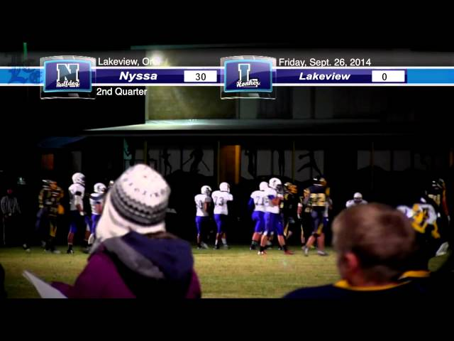 LHS Football Highlights: Nyssa vs. Lakeview 9-26-2014