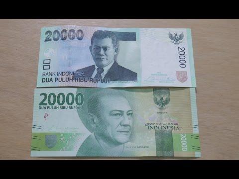 Perbedaan Uang Baru 2017 vs Uang Lama Rupiah Indonesia (Unboxing)