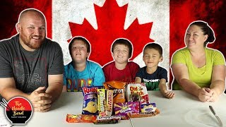American Family Reacts to Canadian Snacks again, Snack Crate Canada