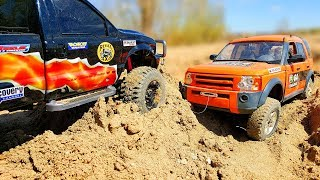 RC Trucks Arnie and Blondies Sand Adventure Ford F 350 and Land Rover Discovery 3 — Part 2