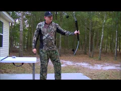 Testing the 50 lb survival bow and take down arrows