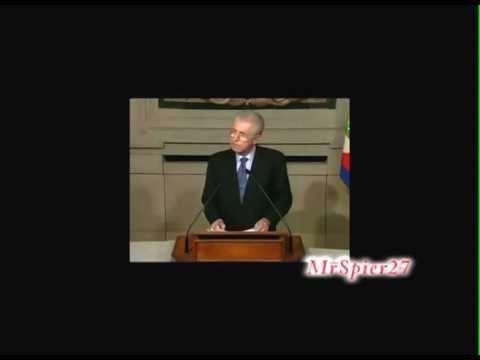 Parodia – Discorso di Mario Monti su finanziaria 2012 e liberalizzazioni