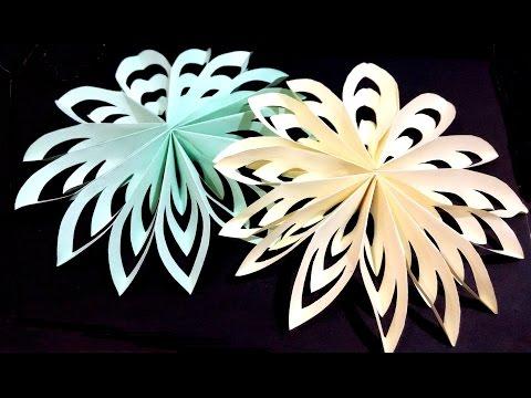 Новогодние украшения из бумаги объемные