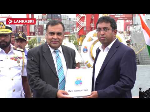 Indian relief ship berthed at Colombo Port