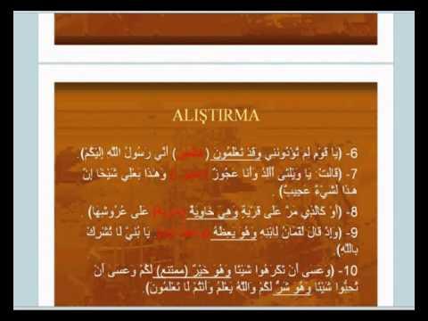 İstanbul İlitam Arapça -12.Hafta -2.Bölüm