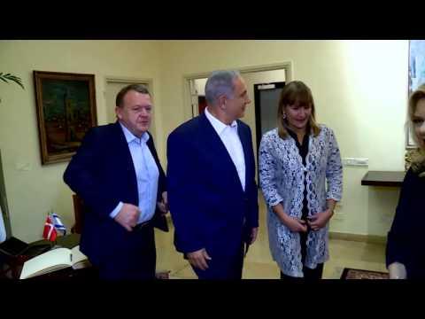 PM Netanyahu hosts Danish PM Rasmussen
