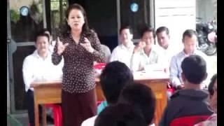 Ke Sovannroth and Kong Bora MPs visited in Prey Veng