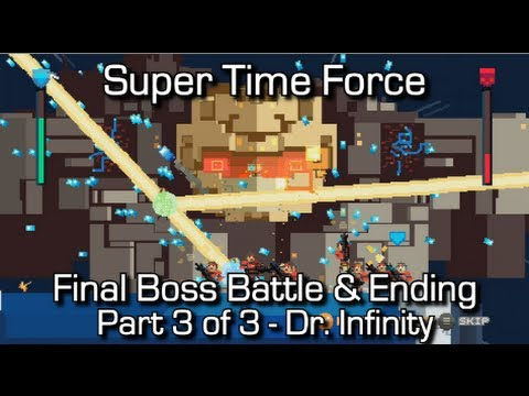 Super Time Force - Final Boss Battle & Ending [3/3] - Dr. Infinity Walkthrough - Achievement Guide
