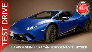 Lamborghini Huracán Performante Spyder a Ruote in Pista