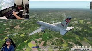 ORBX TrueEarth GB South Part 1 in the FlyJSim 732 Twinjet