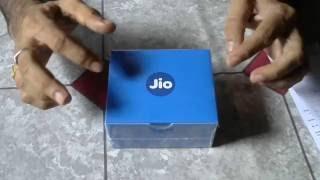 Reliance JioFi 4G router Unboxing