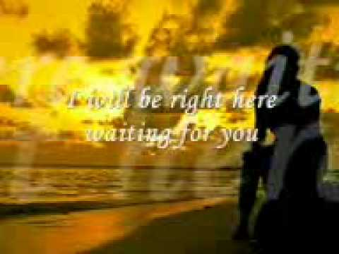 English Sad Song With Lyrics Right Here Waiting For You