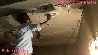 pop false ceiling work start nd End Design -video- Rk p.o.p contractor