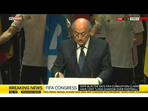 Sepp Blatter Speaks To FIFA Congress - Full Speech
