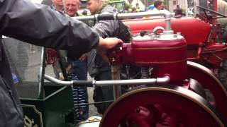 Slavia stationary engine, unload and start