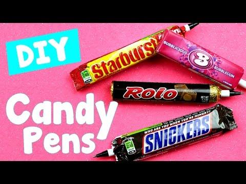 DIY Crafts: 4 Easy DIY Candy Pens - Cool &  Unique Craft Tutorial