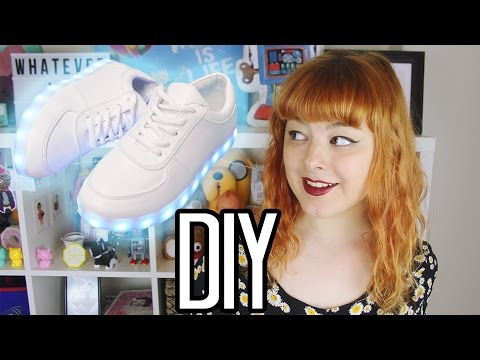DIY LIGHT UP SHOES   Make Thrift Buy #25