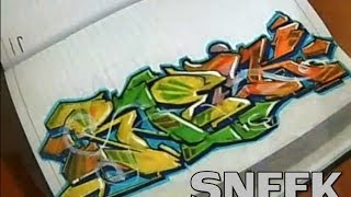 """Sneek"" Wildstyle Graffiti Drawing (REQUESTED) 